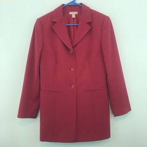 NWOT Nordstrom Red 3-Button Blazer
